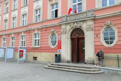 弗罗茨瓦夫市政厅 库存照片