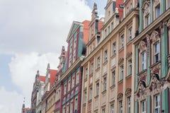 弗罗茨瓦夫建筑学,波兰 免版税库存照片