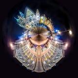 弗罗茨瓦夫有的城镇厅集市广场微小的行星  免版税图库摄影