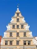 弗罗茨瓦夫老城镇 老集市广场的廉价公寓 免版税库存图片