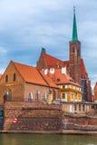 弗罗茨瓦夫老市全景 免版税库存照片