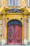 弗罗茨瓦夫老市场barocco门 免版税图库摄影