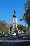 弗罗茨瓦夫街道的老教会在波兰- 12 09 2016年:波兰,欧洲 库存照片