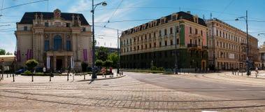 弗罗茨瓦夫,剧院波兰 免版税库存图片