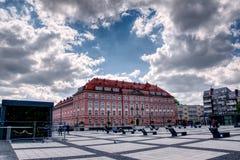 弗罗茨瓦夫,波兰,镇中心 免版税图库摄影