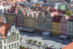 弗罗茨瓦夫,波兰- 2016年7月07日:风景夏天空中全景o 免版税库存图片