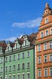弗罗茨瓦夫,波兰- 2016年7月07日:squar的市场的建筑学 库存照片
