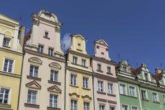 弗罗茨瓦夫,波兰- 2016年7月07日:squar的市场的建筑学 免版税库存图片