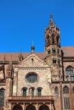 弗莱堡大教堂在弗赖堡,德国 库存照片
