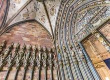 弗莱堡大教堂的门厅 免版税库存图片