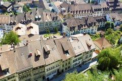 弗里堡屋顶在瑞士 图库摄影