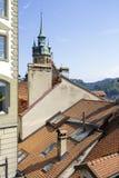 弗里堡都市风景细节  库存图片