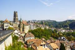 弗里堡都市风景  免版税库存图片