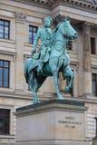 弗里德里克威谦廉骑乘马雕象在不伦瑞克 免版税库存图片