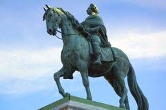 弗雷德里克国王骑马古铜色雕象v 免版税库存照片