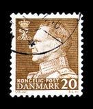 弗雷德里克国王IX,面对左serie,大约1962年 库存照片