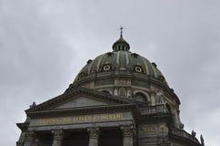 弗雷德里克的教会哥本哈根 免版税图库摄影