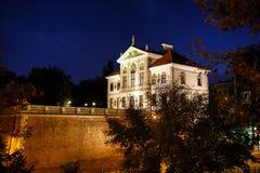 弗雷德里克肖邦博物馆在晚上 库存图片