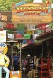 弗雷德` s墨西哥咖啡馆在老镇,圣地亚哥 免版税库存图片