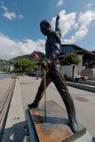 弗雷迪・默丘里雕象在蒙特勒 图库摄影