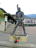 弗雷迪・默丘里雕象在蒙特勒,瑞士 库存图片