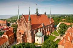 弗龙堡大教堂,哥白尼埋葬地方  库存照片
