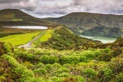 弗洛勒斯海岛的风景  亚速尔群岛,葡萄牙 库存图片
