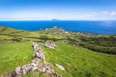 弗洛勒斯海岛的风景  亚速尔群岛,葡萄牙 库存照片