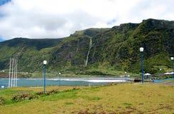 弗洛勒斯海岛的风景  亚速尔群岛,葡萄牙 图库摄影