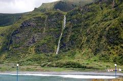 弗洛勒斯海岛的风景  亚速尔群岛,葡萄牙 免版税库存图片