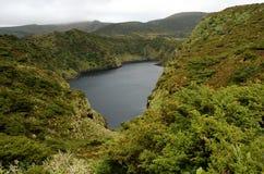 弗洛勒斯海岛的风景  亚速尔群岛,葡萄牙 免版税库存照片