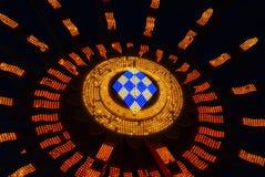 弗累斯大转轮光在晚上 免版税图库摄影