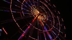 弗累斯大转轮光在晚上 影视素材