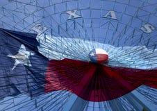 弗累斯大转轮和得克萨斯状态旗子 库存照片
