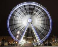弗累斯大转轮在晚上之前 图库摄影