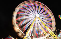 弗累斯大转轮在晚上 图库摄影