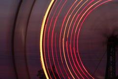 弗累斯大转轮在晚上 免版税库存照片