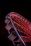 弗累斯大转轮在晚上 免版税图库摄影