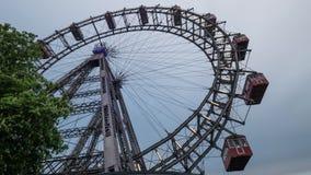 弗累斯大转轮的看法从地面的,维也纳,奥地利 股票视频