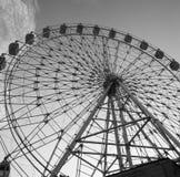 弗累斯大转轮黑白照片 免版税库存照片