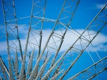 弗累斯大转轮细节和结构有蓝天的 库存图片