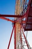 弗累斯大转轮细节--巨型的钢结构有支持是 免版税库存图片