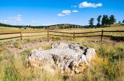 弗洛里森特化石床国家历史文物 库存照片