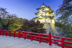 弘前城堡在日本 库存图片