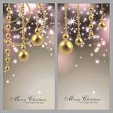 2张不可思议的圣诞卡 免版税库存照片