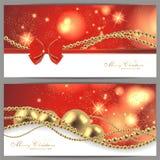 2张不可思议的圣诞卡 免版税库存图片