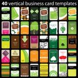 40张五颜六色的名片 免版税库存照片