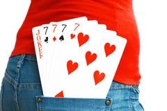 5张卡片 免版税库存图片