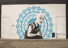 42张壁画由@omarxed,深Ellum,得克萨斯射出墙壁壁画 免版税库存图片