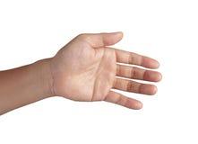 张开显示全部五个手指的现有量 免版税图库摄影